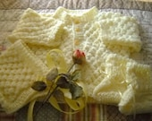 Sweater set, newborn, pale yellow,