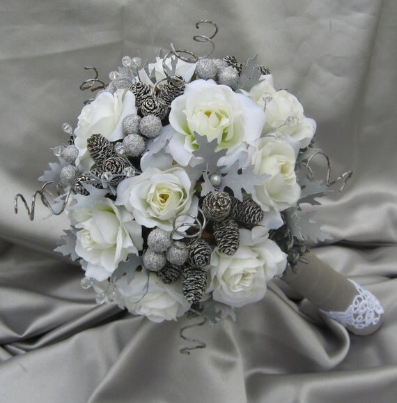 Best Flowers For Winter Wedding: Items Similar To Large LUXURY Winter WONDERLAND Bridal