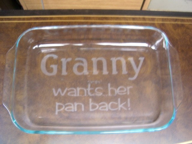 Personalized 9 X 13 Inch Baking Dish