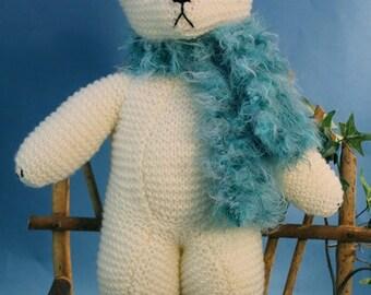 Luxembears Hand KNitted Polar Bear Teddy