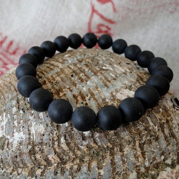MEN'S  ONYX  10 mm mala bead bracelet
