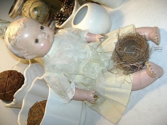 Little Yellow Doll Dress at Nestbox Vintage