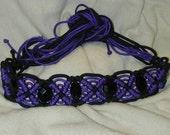 Vintage Purple and Black 60's Macrame Belt