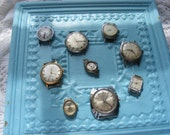 Vintage Lot 9 Timex Wristwatch Faces Men's & Women's