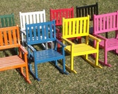 Solid Red Oak 12 inch  Painted Rocking Chair
