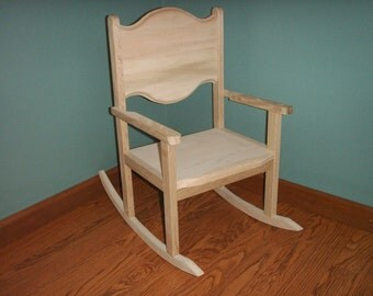 Children's oak rocking chairs with 12 inch seat- unfinished