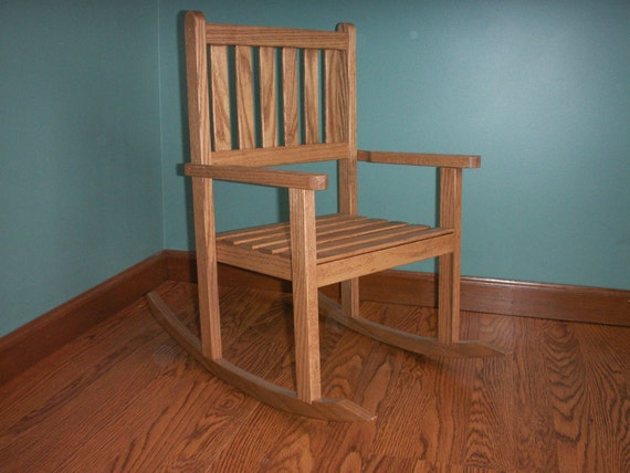 Children's  oak rocking chair with 12 inch seat- Early American
