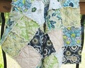 Rag Crib Quilt, CUSTOM, You Pick Fabrics, ALL NATURAL, fresh modern handmade
