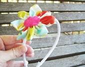 Blooming Headband for girls, Tarika Gem, fresh modern handmade children, READY TO SHIP