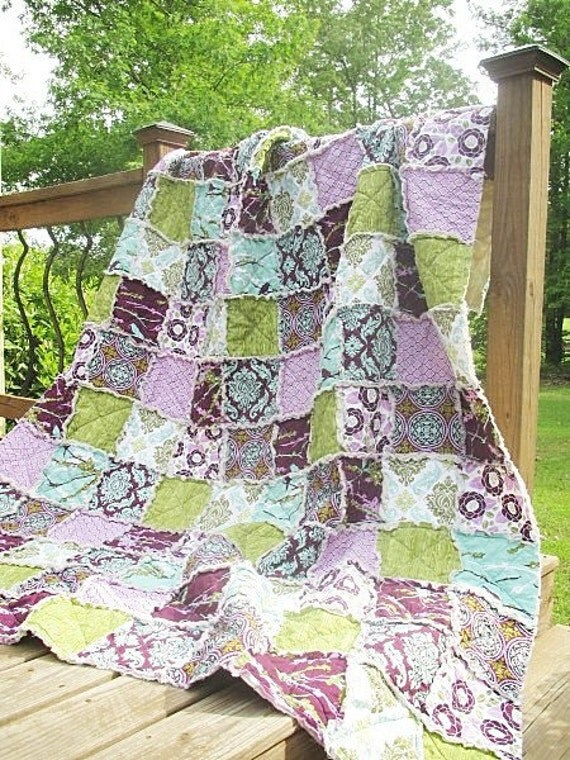 2 Twin Size Rag quilts with rush by Sept 28.  RESERVED for ANN