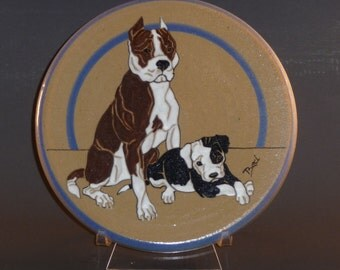 Pit Bull / Am-Staff Art Tile - Debra Bacianga