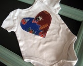 Florida Gators and Florida State Seminoles Divided Heart Onesie or Toddler Shirt