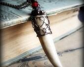 The Oak King.  Deer Antler Tip and Copper Necklace