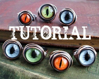 Eye Ring Tutorial.  How To Make An Evil Eye Ring.  Wire Wrap Tutorial. DIY.