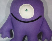 My First Purple Monster fleece toy