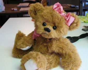 Honey Pie brown teddy bear fully jointed