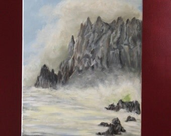 Seaside Cliffs oil on canvas