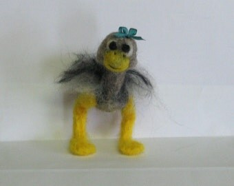 DeeDee the Dodo needlefelted Bird with free shipping to US locations