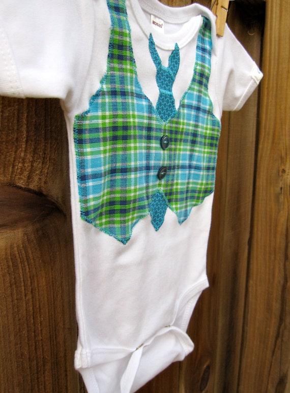 Cuddlestar Necktie and Vest Onesie