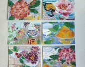 Gabby Malpas watercolour art cards: Set of six C6 blank greeting cards and envelopes