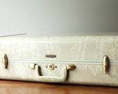 Vintage Marbled Samsonite Hard Sided Suitcase