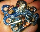 Herr Krake - Handmade Steampunk Cephalopod Pendant