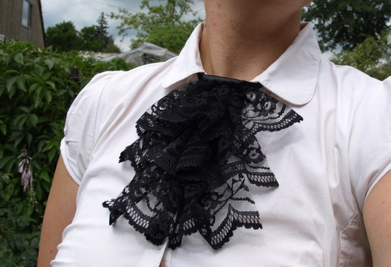 Black Lace Jabot Small Set of 30 Special order for shep0521