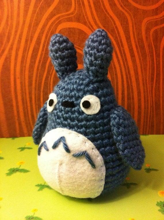 Tiny Totoro Amigurumi : Small Blue Totoro Amigurumi by MalonB on Etsy