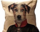 Jack Russell Dog Military Sofa Cushion