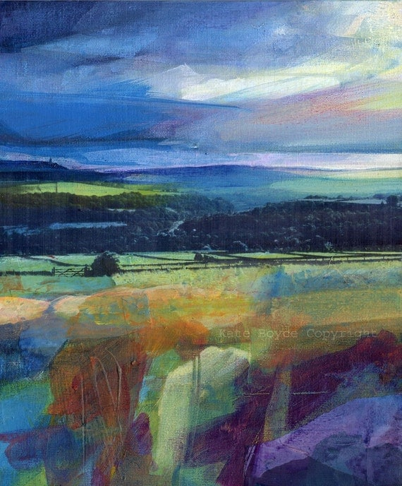 Stormy Sky over Stoodley. Limited Edition Archival Print.(size 3)