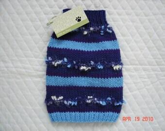 Dog Sweater - Pet Sweater - Size XSMALL - Confetti Blue