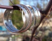 Pretty Little Stacking Rings: quarters, nickels, dimes