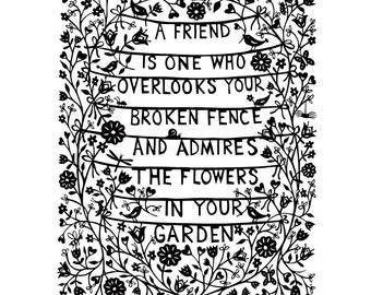 A Friend is ... A4  PRINT