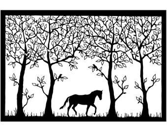 Horse - PRINT (25cm x 17cm)