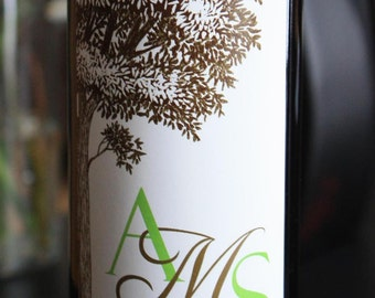 Personalized Wine Labels...monogram...Choose your Color and Design