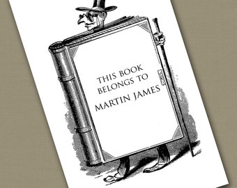 Personalized Bookplates....24qty...Choose your color... Bookman
