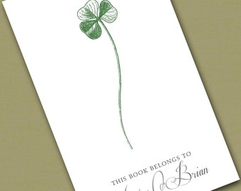 Personalized Bookplates....24qty...Choose your color... Clover