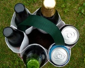 """6 Pack Carrier made from Malt Bag aka """"A Round of Beer Carrier"""""""