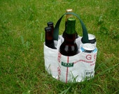 """Eco  6 Pack Carrier  """"Round of Beer"""""""
