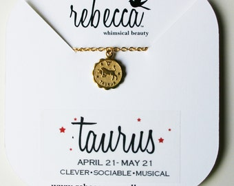 Zodiac Necklace - Taurus