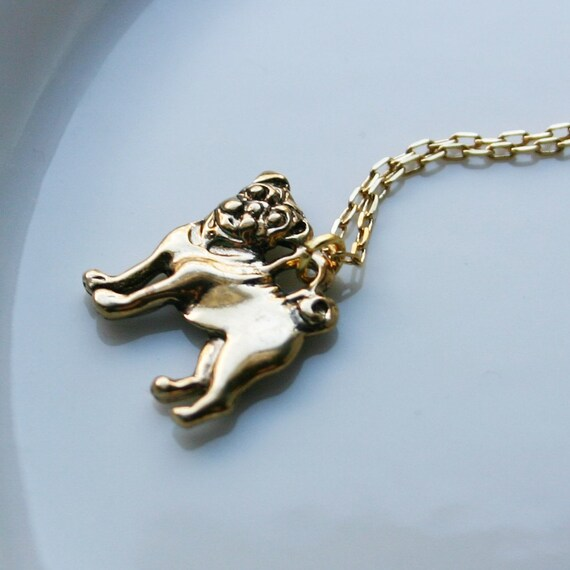 Gold Pug Necklace
