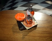 Gothic Witch Spell tray dollhouse miniature Halloween ooak Glow in dark  Can be custom made too