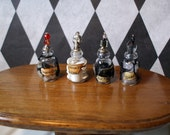 Gothic Witch Spell bottle dollhouse miniature Halloween skeleton dust, bat fur, spider web, dragon claws deluxe set