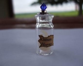 Gothic Witch Khnum Horns spell bottle dollhouse miniature Halloween