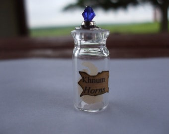 Gothic Witch Khnum Horns spell bottle dollhouse miniature Halloween