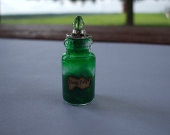 Gothic Witch Frog Legs Spell bottle dollhouse miniature OOAK