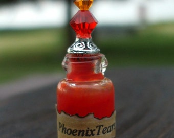 Witch Wizard Gothic Pheonix Tears dollhouse miniature Spell bottle halloween