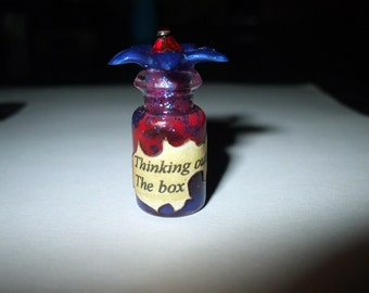 Witch Wizard Gothic Thinking outside the Box potion dollhouse miniature Spell bottle halloween