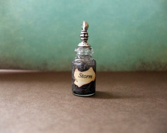 Witch Wizard Gothic Storm dollhouse miniature Spell bottle halloween charm