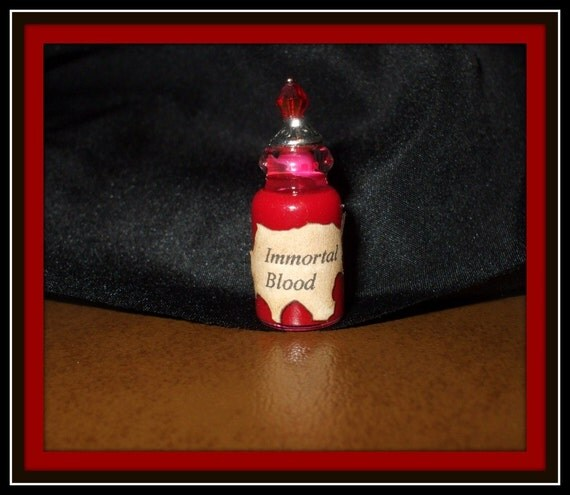 Witch Wizard Gothic Immortal Blood dollhouse miniature Spell bottle halloween